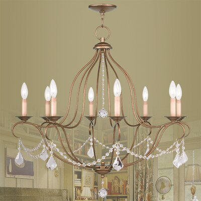 Bayfront 8-Light Crystal Chandelier Color: Antique Gold Leaf