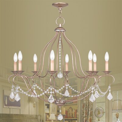 Bayfront 8-Light Crystal Chandelier Finish: Antique Silver Leaf