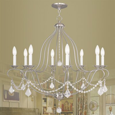 Bayfront 8-Light Crystal Chandelier Finish: Brushed Nickel