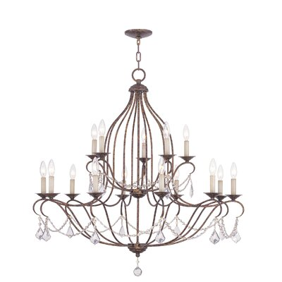 Bayfront 15-Light Crystal Chandelier Color: Venetian Golden Bronze