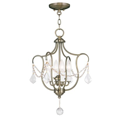 Bayfront 4-Light Foyer Pendant Color: Antique Brass