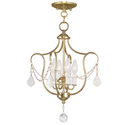 Bayfront 4-Light Foyer Pendant Finish: Polished Brass