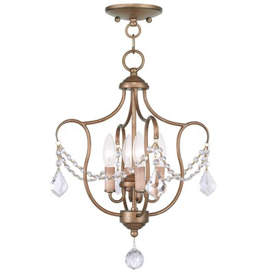 Bayfront 4-Light Foyer Pendant Color: Antique Gold Leaf