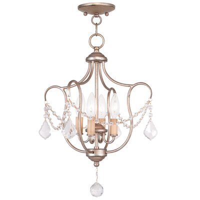Bayfront 4-Light Foyer Pendant Color: Antique Silver Leaf