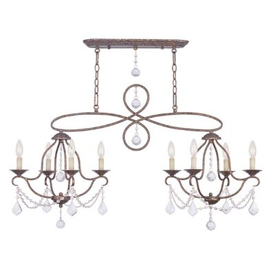 Bayfront 8-Light Crystal Chandelier Finish: Ventetian Golden Bronze