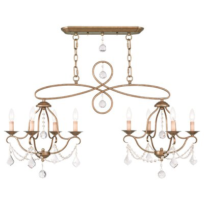 Bayfront 8-Light Crystal Chandelier Finish: Antique Gold Leaf