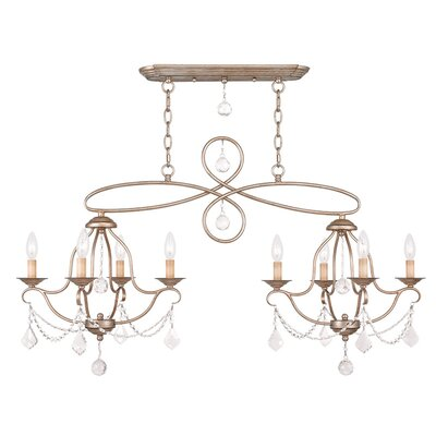 Bayfront 8-Light Crystal Chandelier Color: Antique Silver Leaf