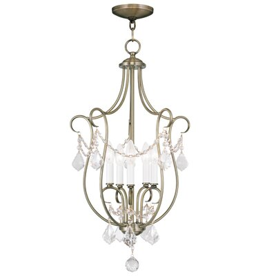 Bayfront 5-Light Foyer Pendant Finish: Antique Brass