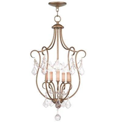 Bayfront 5-Light Foyer Pendant Color: Antique Gold Leaf