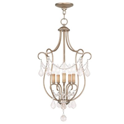 Bayfront 5-Light Foyer Pendant Finish: Antique Silver Leaf