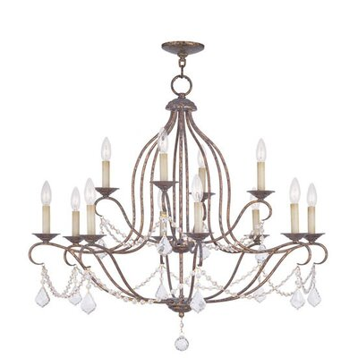 Bayfront 12-Light Crystal Chandelier Color: Ventetian Golden Bronze