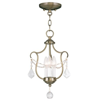 Bayfront 3-Light Candle-Style Chandelier Color: Antique Brass