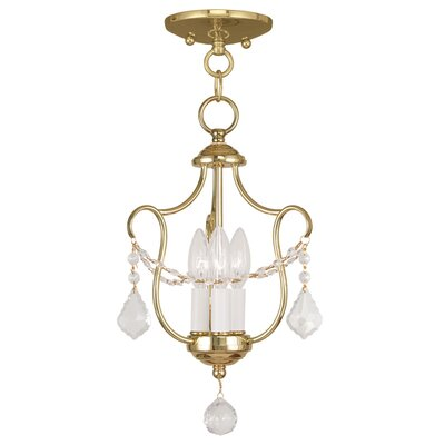 Bayfront 3-Light Candle-Style Chandelier Finish: Polished Brass