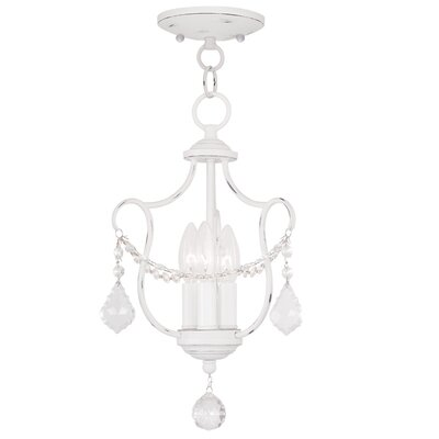 Bayfront 3-Light Candle-Style Chandelier Finish: Antique White