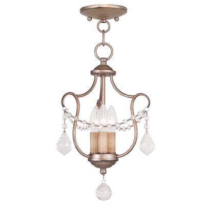 Bayfront 3-Light Candle-Style Chandelier Finish: Antique Silver Leaf