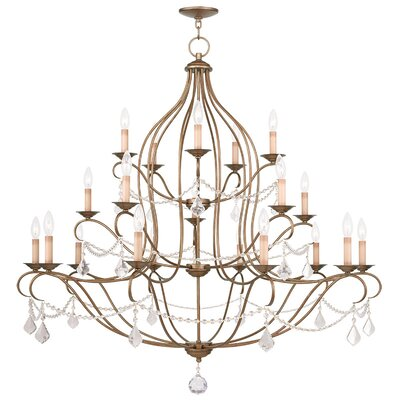Bayfront 18-Light Crystal Chandelier Finish: Antique Gold Leaf