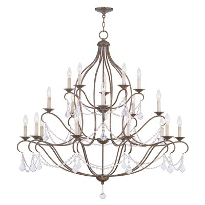 Bayfront 18-Light Crystal Chandelier Finish: Venetian Golden Bronze