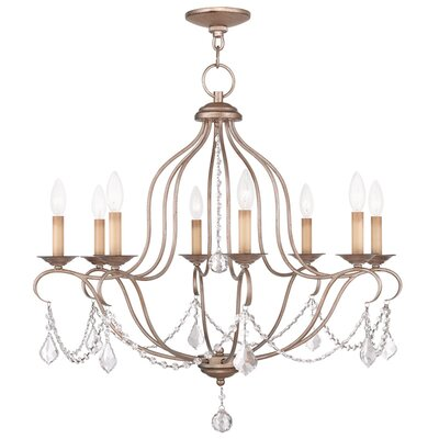 Bayfront 8-Light Candle-Style Chandelier Finish: Antique Silver Leaf