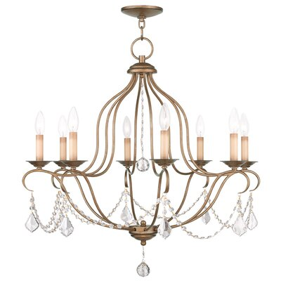 Bayfront 8-Light Candle-Style Chandelier Color: Antique Gold Leaf