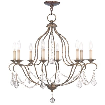 Bayfront 8-Light Candle-Style Chandelier Finish: Venetian Golden Bronze