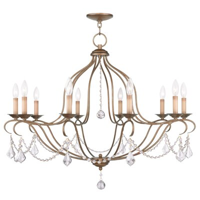 Bayfront 10-Light Candle-Style Chandelier Finish: Antique Gold Leaf
