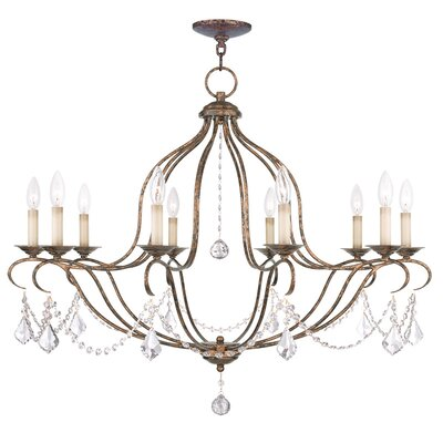 Bayfront 10-Light Candle-Style Chandelier Finish: Venetian Golden Bronze