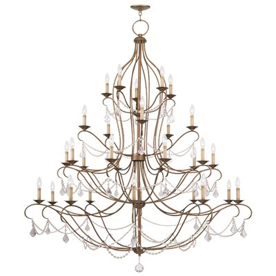 Bayfront 30-Light Candle-Style Chandelier Finish: Antique Gold Leaf