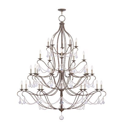 Bayfront 30-Light Candle-Style Chandelier Finish: Venetian Golden Bronze