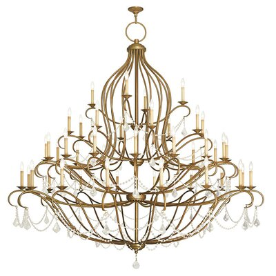 Bayfront 44-Light Crystal Chandelier Finish: Hand Painted Antique Gold Leaf
