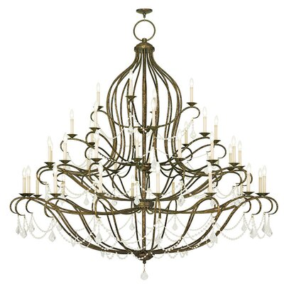 Bayfront 44-Light Crystal Chandelier Color: Hand Applied Venetian Golden Bronze