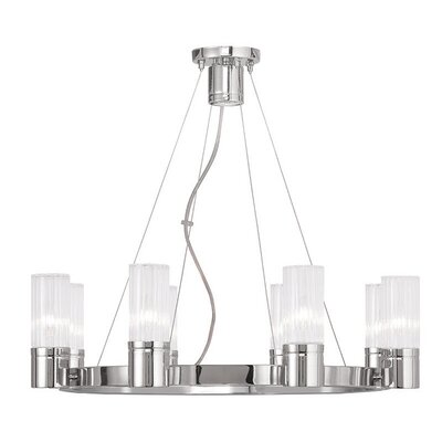 Barnett 8-Light Shaded Chandelier Finish: Chrome