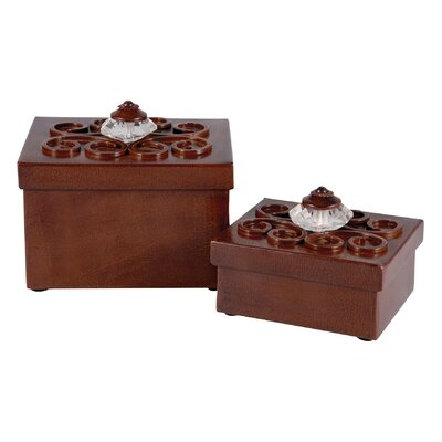 2 Piece Boxes Sculpture Set