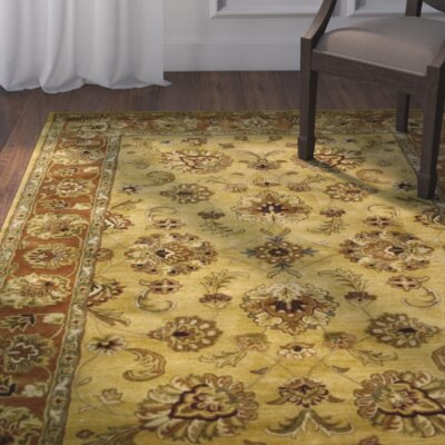 Barnum Hand-Tufted Gold Area Rug