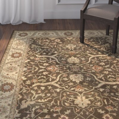Fritsch Hand Tufted Brown/Beige Area Rug