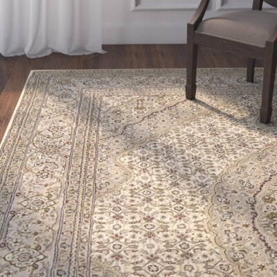 Barrick Hand-Tufted Beige Area Rug