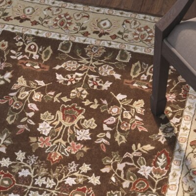 Dominic Hand-Hooked Brown/Green Area Rug