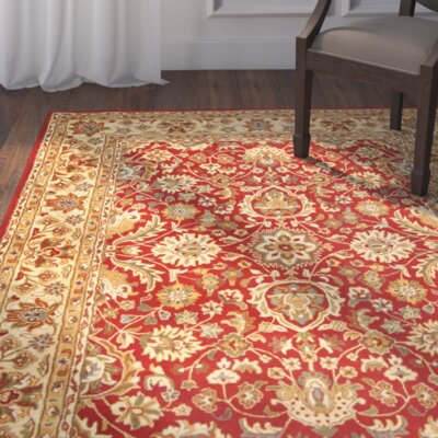 Mosley Hand-Tufted Red/Beige Area Rug