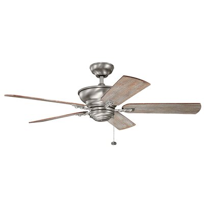 Adam 52 Woodside 5 Blade Ceiling Fan Finish: Burnished Antique with Dark Cherry Blades