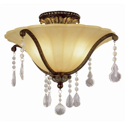 Russo 2-Light Semi Flush Mount