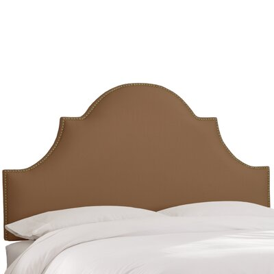 Delaware Upholstered Panel Headboard Size: Twin, Upholstery Color: Khaki