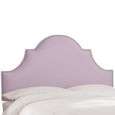 Delaware Upholstered Panel Headboard Size: Queen, Upholstery Color: Lilac