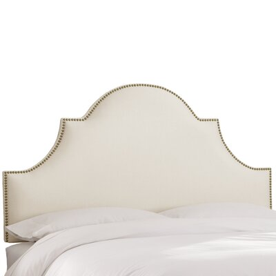 Delaware Upholstered Panel Headboard Size: Full, Upholstery Color: Pearl