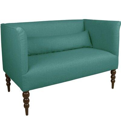 Bainton Linen Upholstered Settee Upholstery Color: Laguna