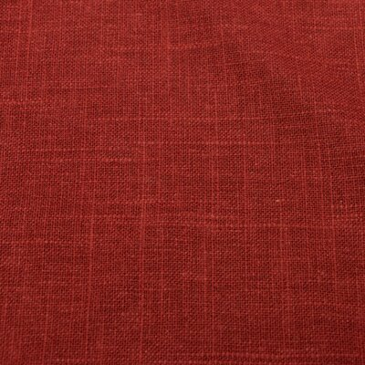 Bainton Linen Upholstered Settee Upholstery: Antique Red