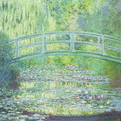 'The Waterlily Pond with the Japanese Bridge' by Claude Monet Painting Print on Wrapped Canvas