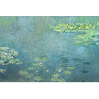 'Waterlilies' by Claude Monet Painting Print on Wrapped Canvas