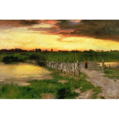 The Old Bridge Over Hook Pond, 1907 Painting Print on Wrapped Canvas Size: 12