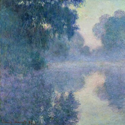 'Branch of the Seine Near Giverny, 1897' by Claude Monet Painting Print on Wrapped Canvas