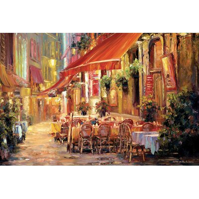 Café in Light Painting Print on Wrapped Canvas Size: 12