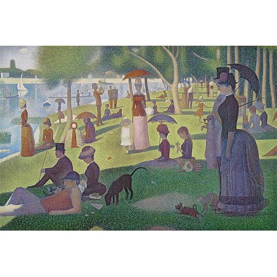 'Sunday Afternoon' by Georges Seurat Painting Print on Wrapped Canvas